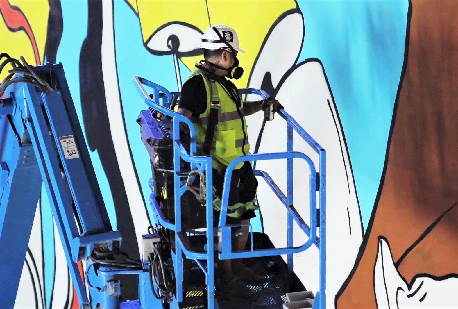 ARTFIVE0 Public Mural, Nesma Moharam, ICD Brookfield Place, Installation