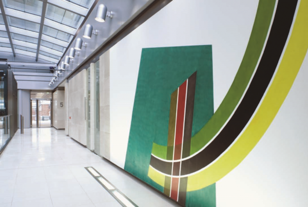 QUBE Building, 90 Whitfield Street, Wall Painting by David Tremlett