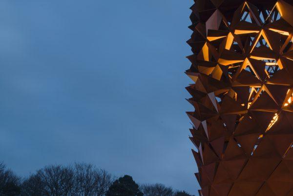 Wolfgang Buttress sculpture, Bloom, Longcross Park